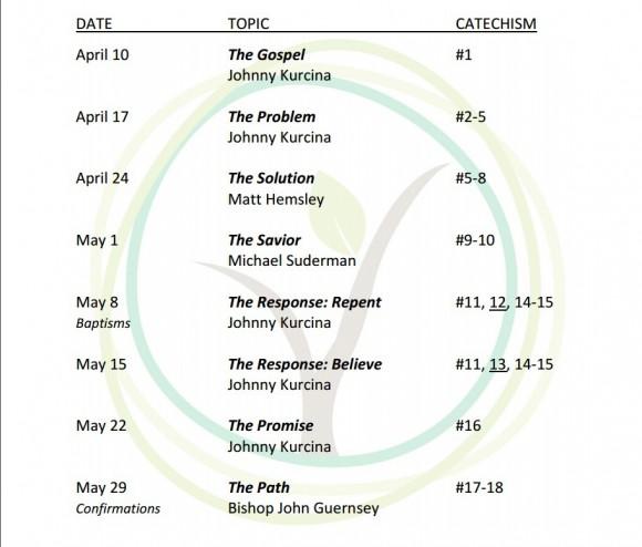 BWC - Sermon Series Dates